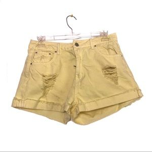Yellow Forever 21 Shorts